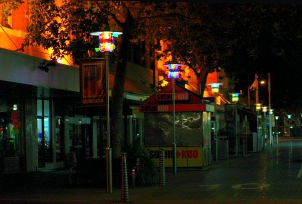 Hunter street mall lights